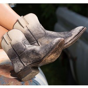 Frye Short Billy Distressed Ombre Western Boot